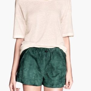 HM - Suede and Leather Shorts - new